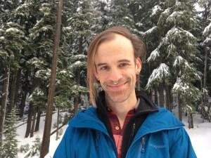 Sasha snowshoeing on Mount Hood