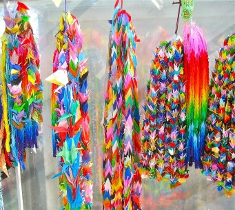Rainbow cranes at Hiroshima