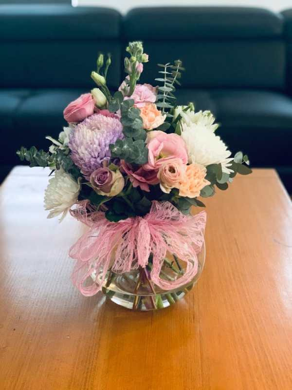 Mixed Flowers in Fishbowl