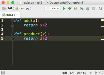 PyCharm define function