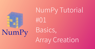 NumPy Tutorial #01 Basics, Array Creation