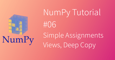 NumPy Tutorial Simple Assignments View Deep Copy