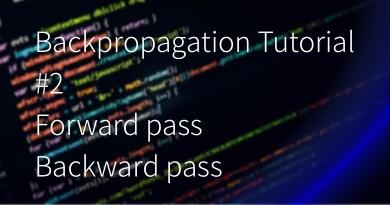 Backpropagation Tutorial Forward pass, Backward pass