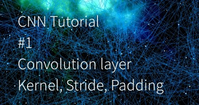 Convolution Neural Network tutorial 1