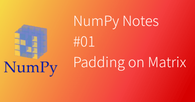 NumPy Notes Padding on matrix