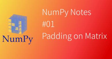 NumPy Notes Padding on matrix