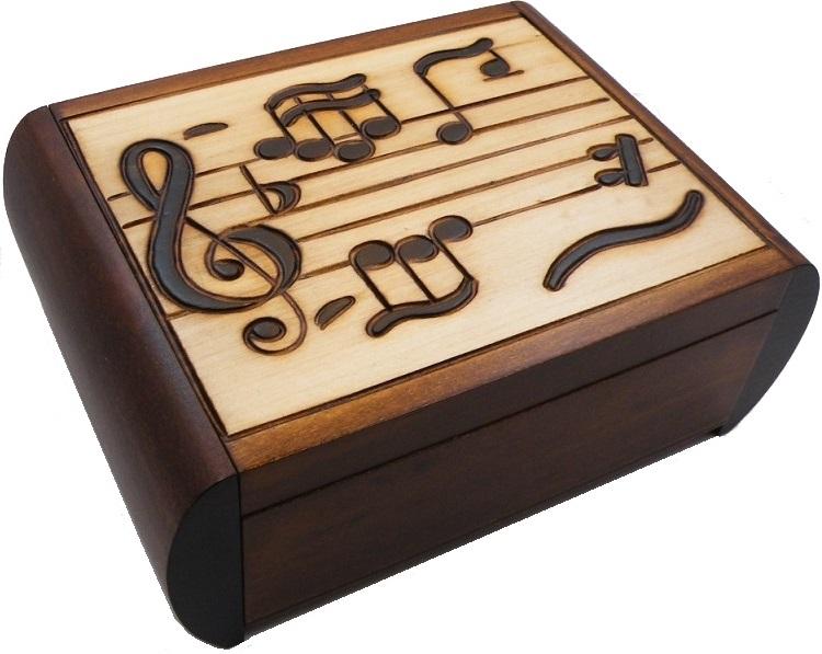 Music Secret Wooden Puzzle Box