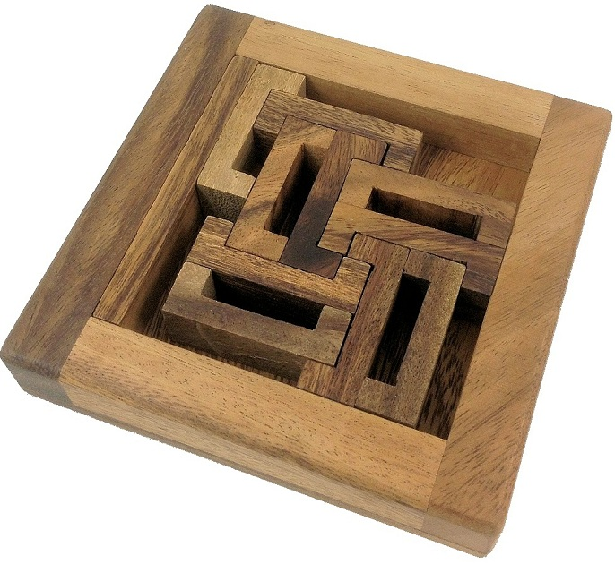 C Box Packing Problem Wooden Brain Teaser Puzzle