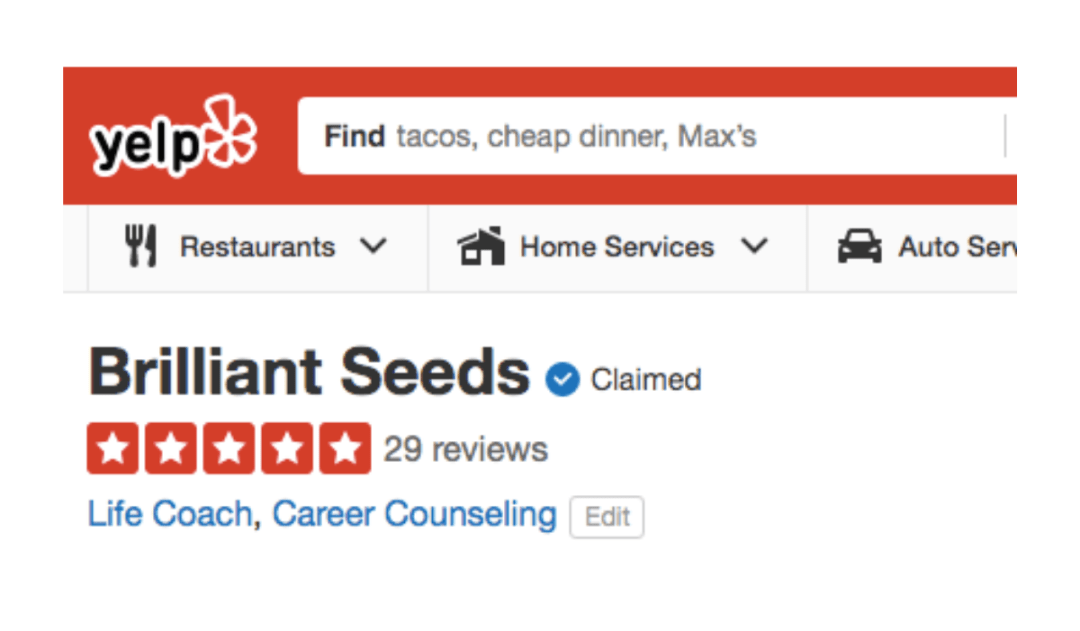 29 five-star reviews on Yelp!