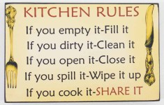 20 Spectacular Kitchen Rules Sign That Simply Invite You Inside