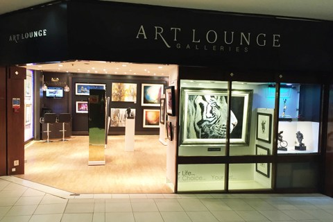 Art lounge Gallery. Shop fitting by Brilliart Ltd.