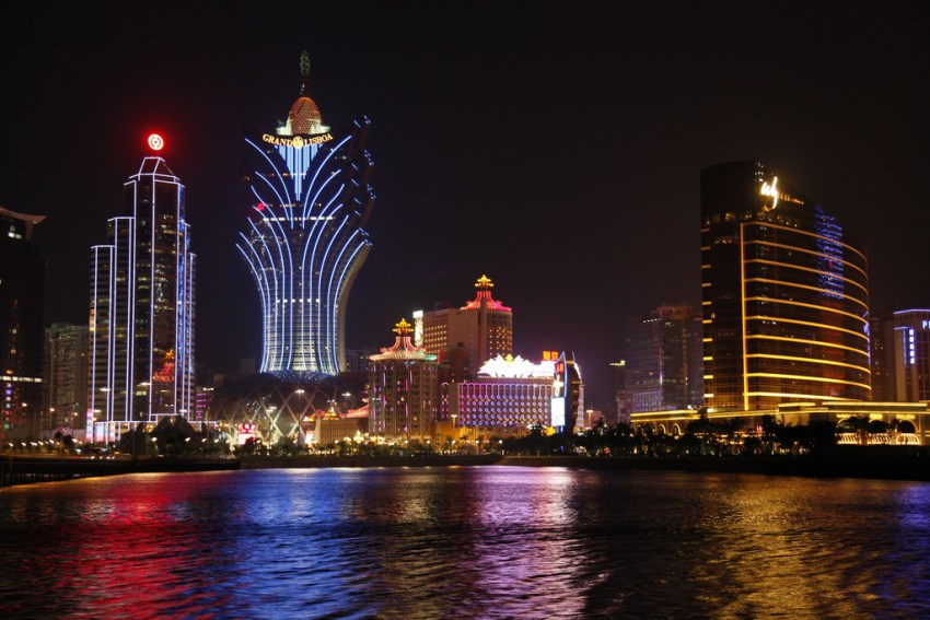 Macau Waterfront at Night