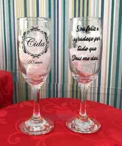 Taças de Vidro Personalizadas de Champanhe Gallant 180ml 1