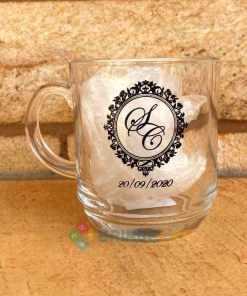 Canecas de Café de Vidro Modelo Aspen 300ml Personalizadas para Brindes e Eventos 12