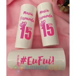 Copos Long Drink Personalizados Maria Fernanda 15 Anos