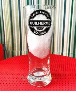Copo de Cerveja de Vidro Lager 300ml Personalizado 1