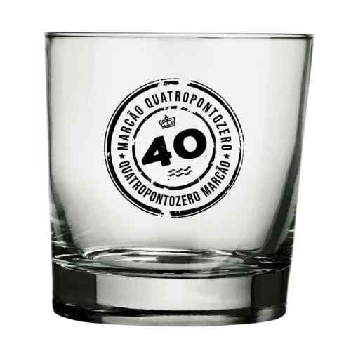 Copo de Whisky de Vidro Personalizado Modelo Atol 310ml