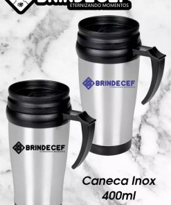 Caneca Inox 400ml Personalizada