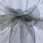 Location de noeud de chaise en Organza Gris