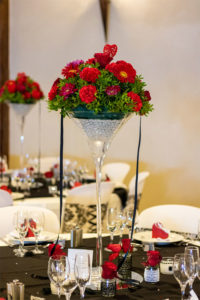 Vase Martini fleuri