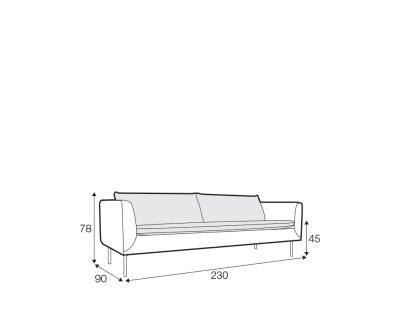 Brindle soffa teknisk info
