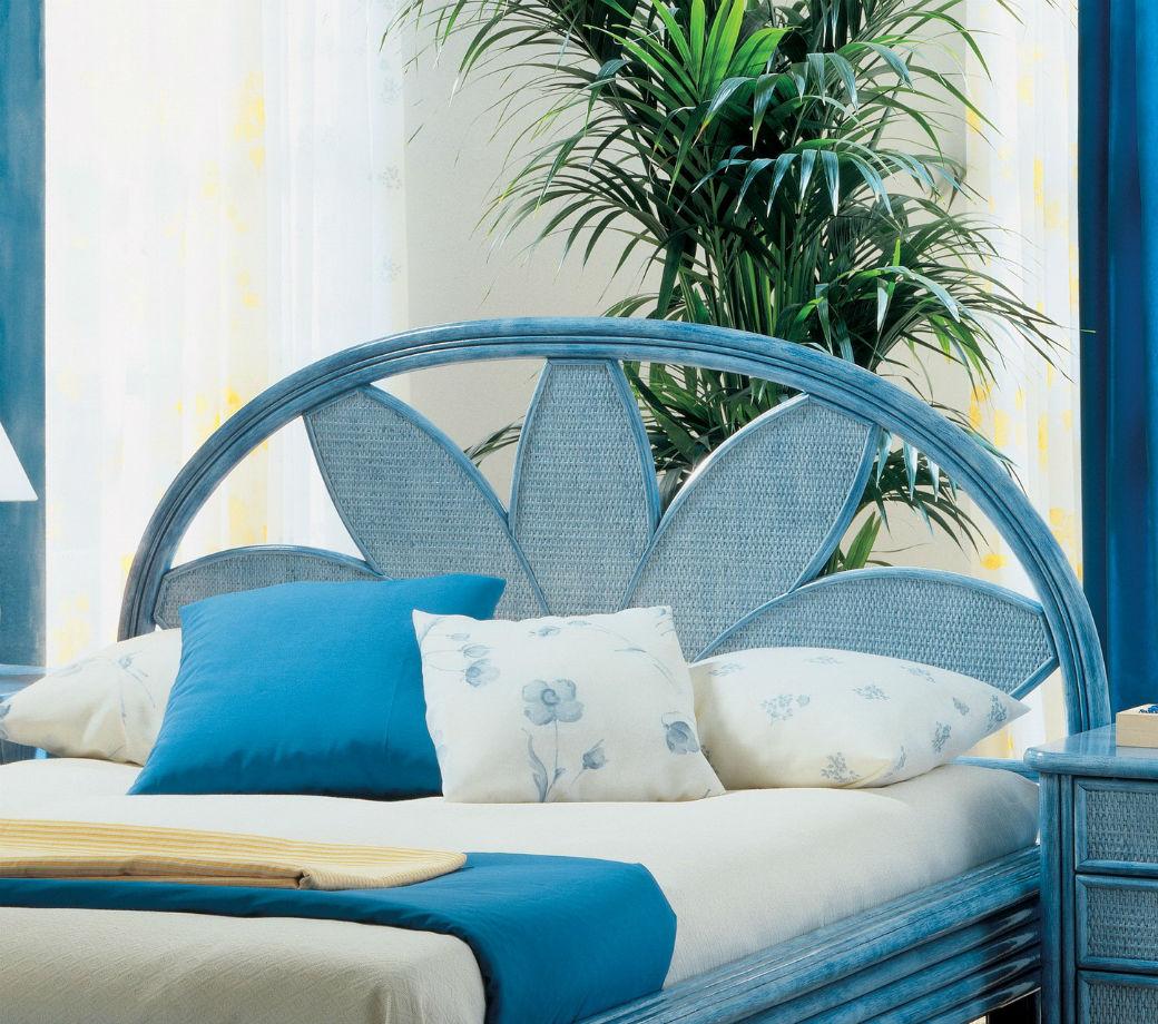 tete de lit decorative en rotin