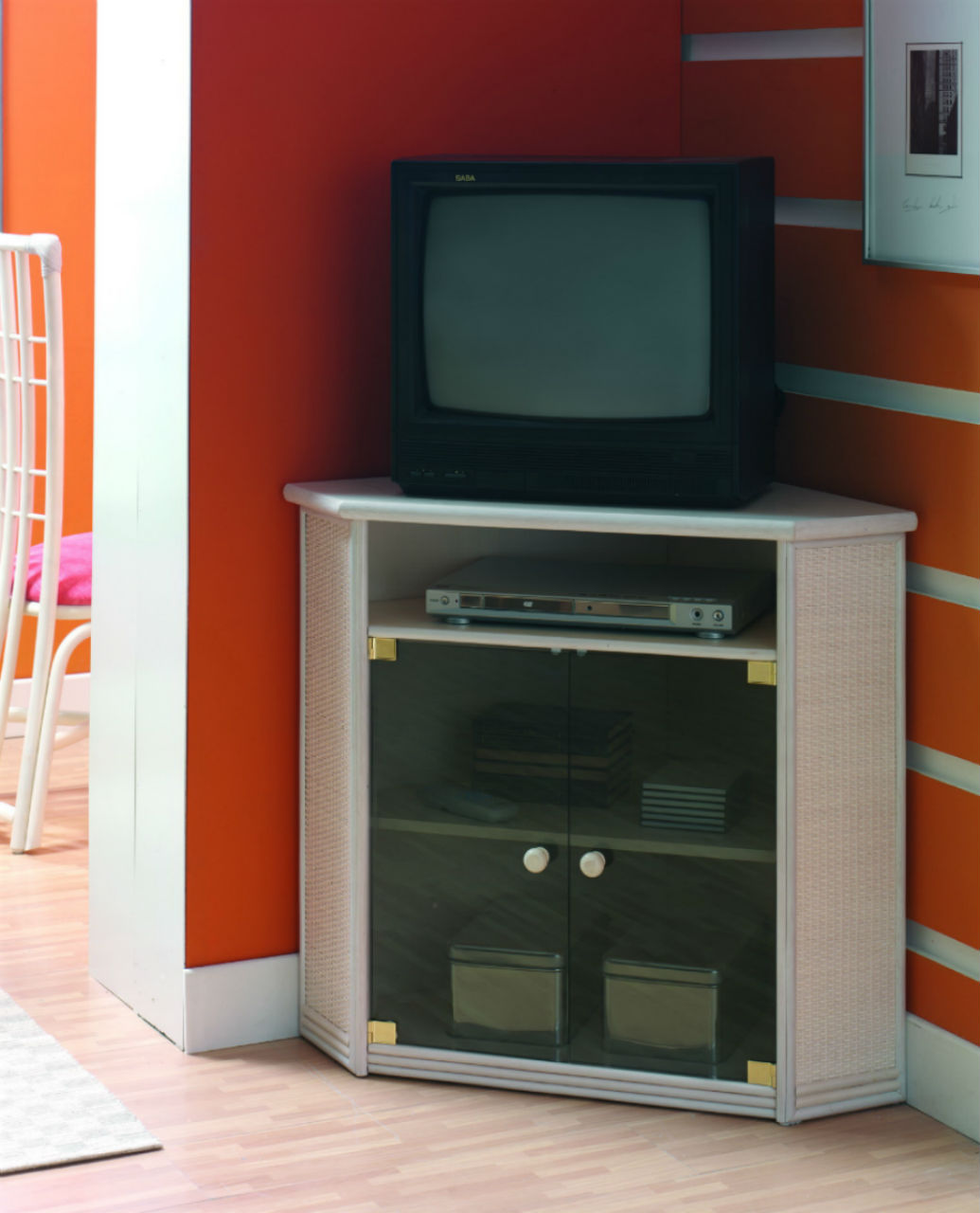 meuble tv d angle en rotin
