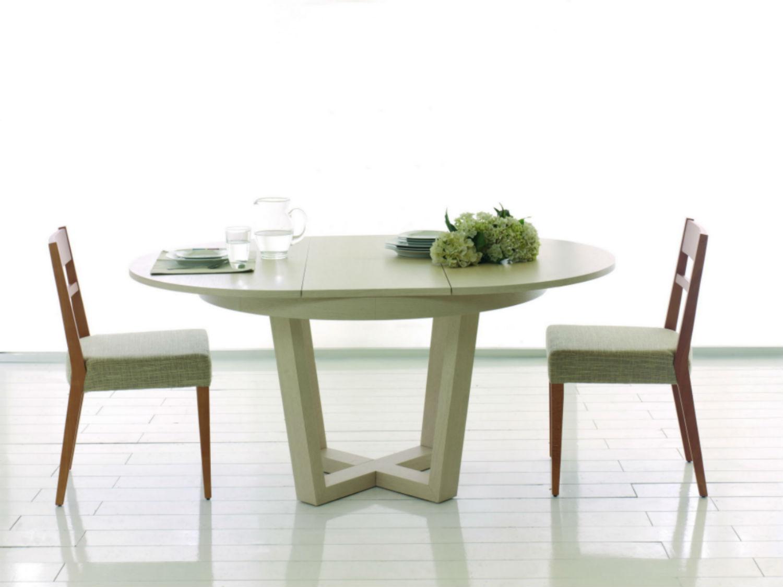 table ronde de salle a manger avec rallonge