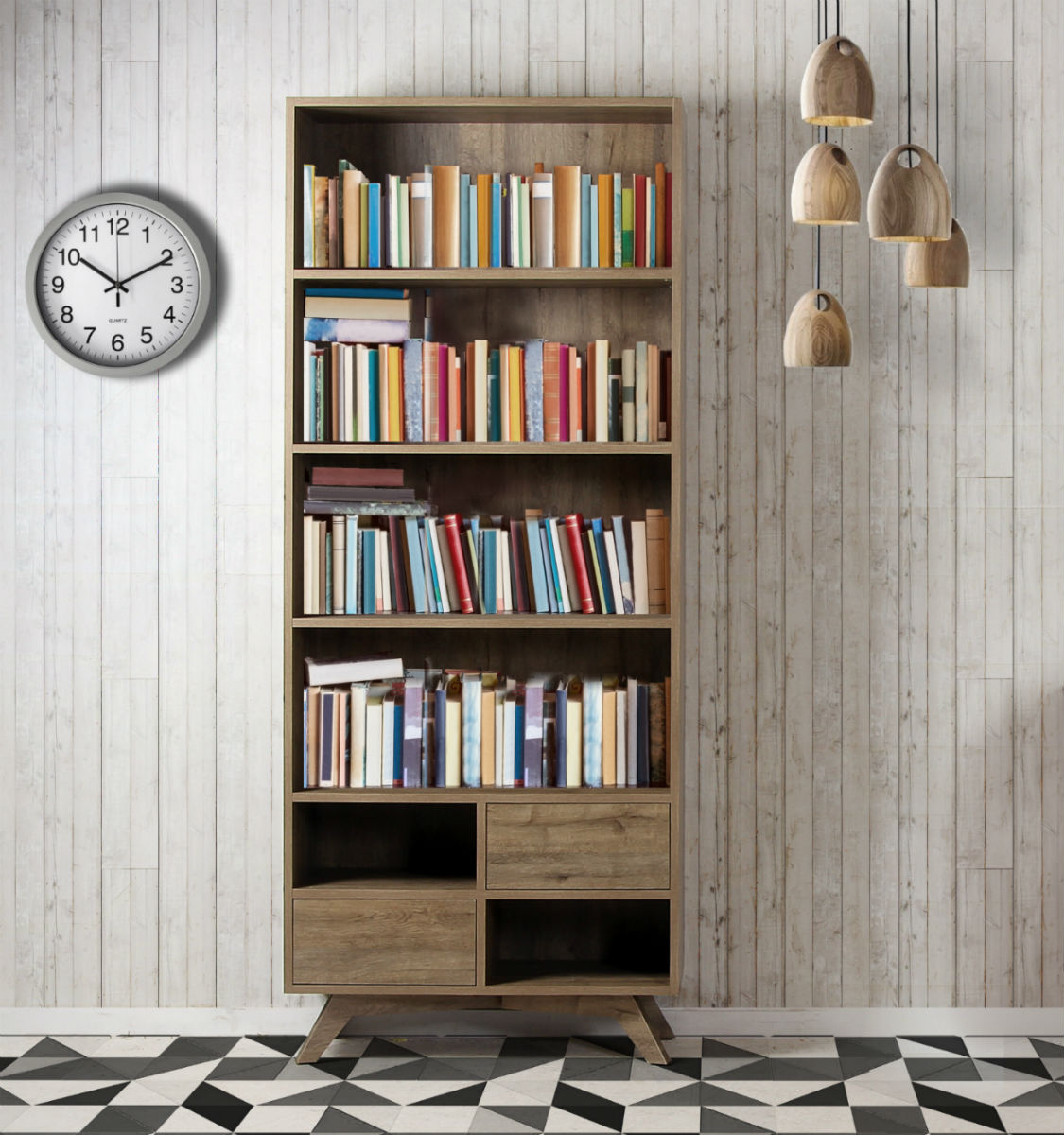 bibliotheque design style scandinave