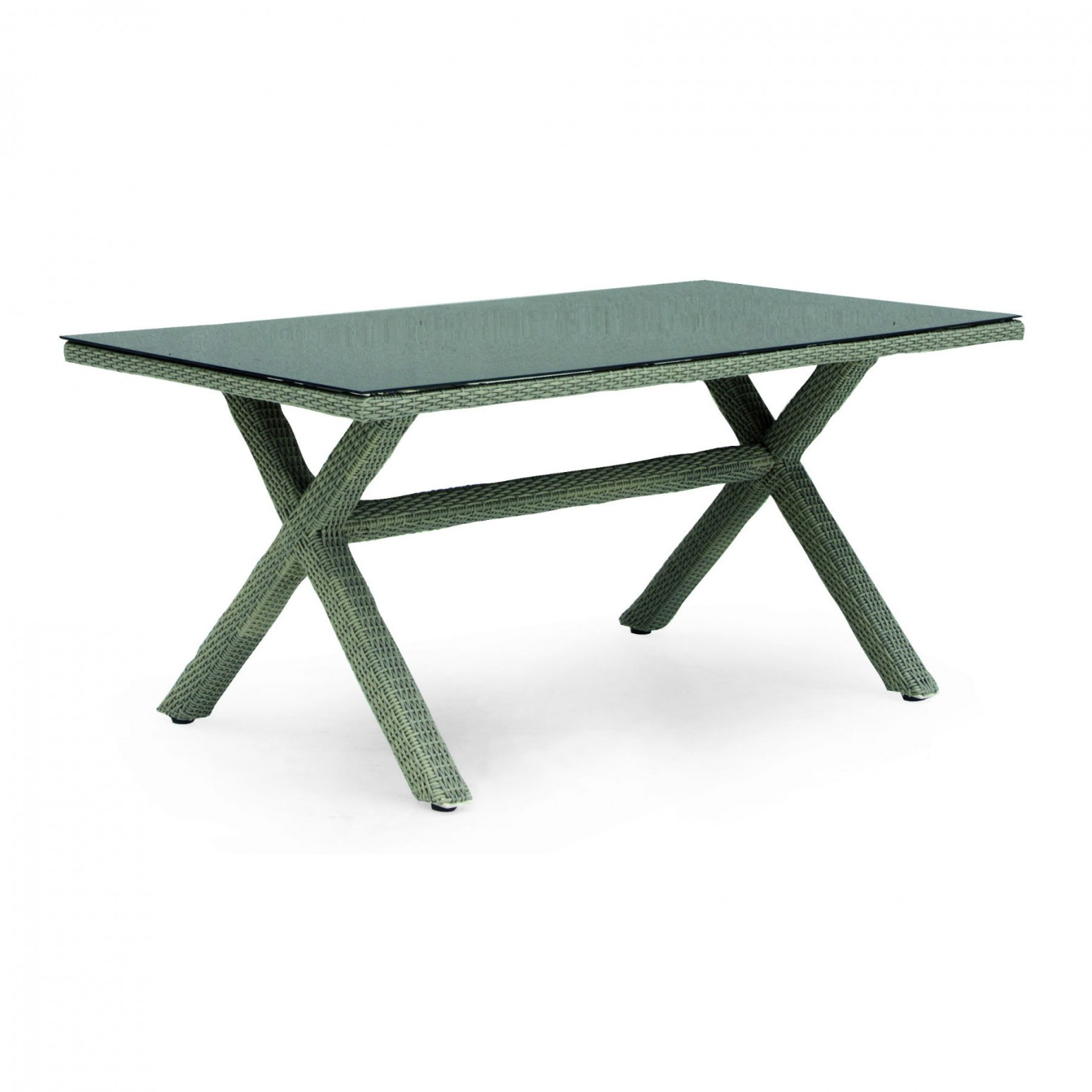 table de jardin 6 personnes en resine tressee