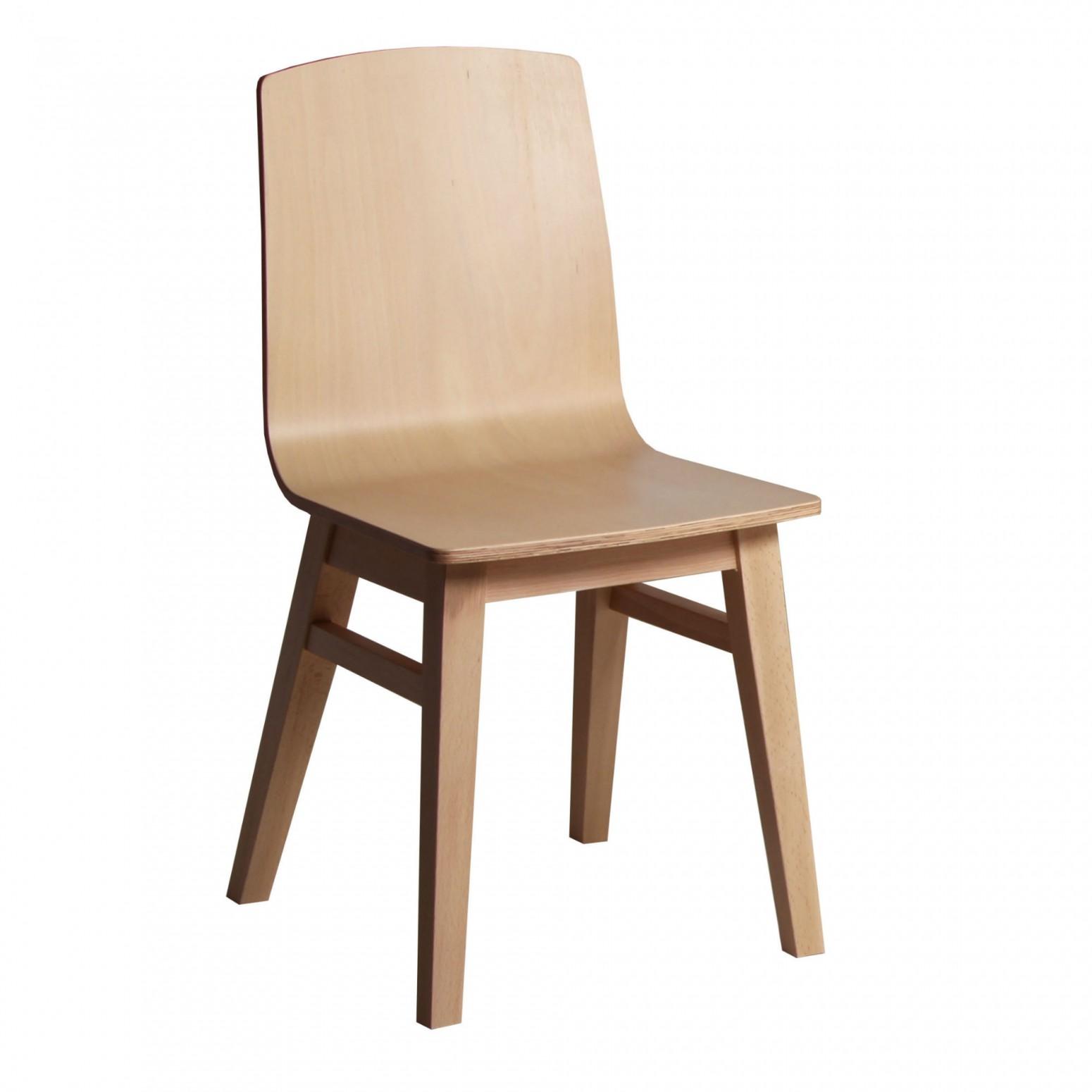 chaise moderne en bois massif
