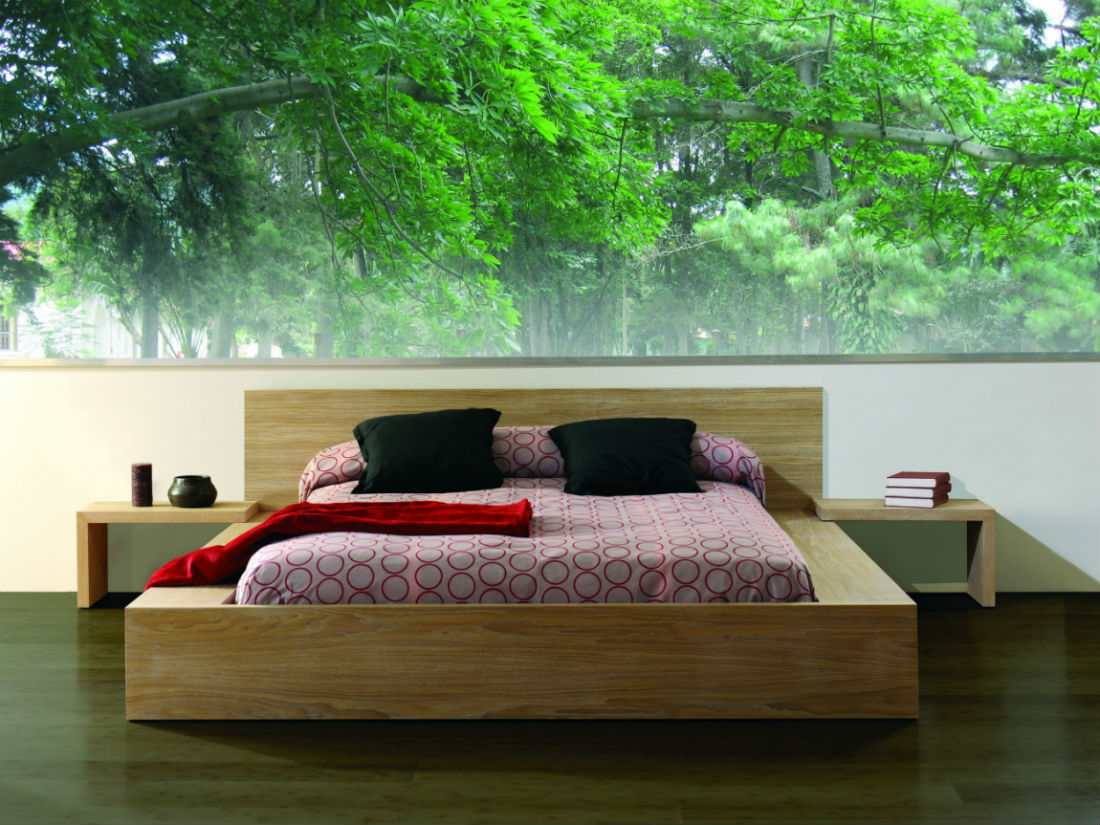 lit 2 places avec tiroirs en bois