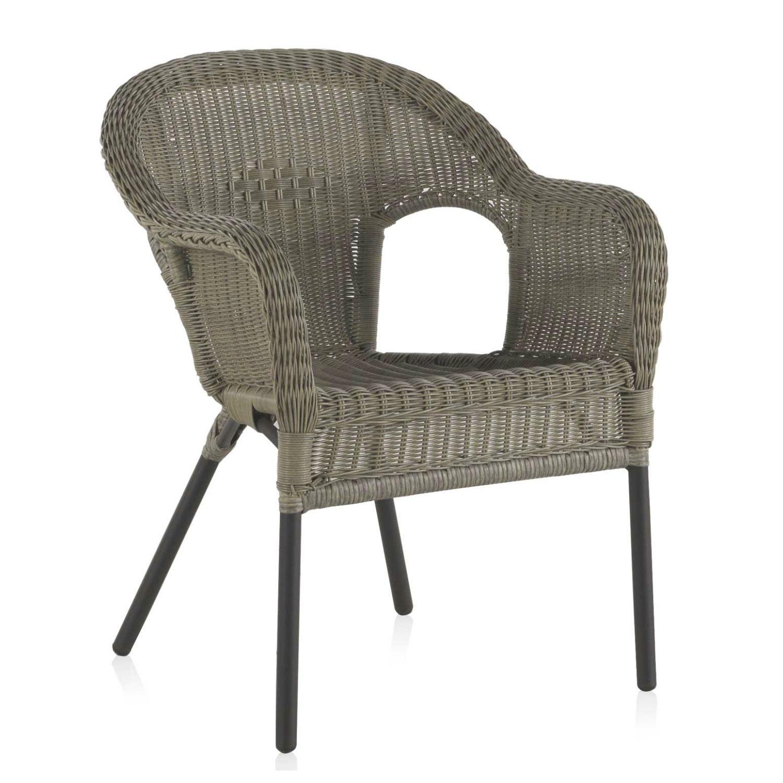 fauteuil de table d exterieur en resine tressee et aluminium brin d ouest