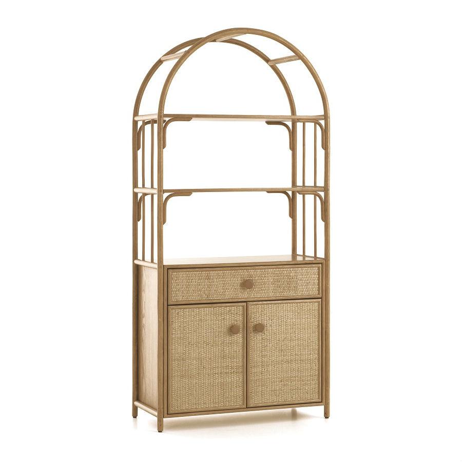 etagere en rotin 2 portes 1 tiroir