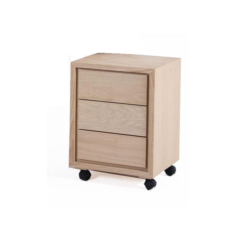 bloc 3 tiroirs en bois pour bureau avec roulettes