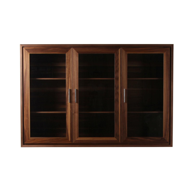 vitrine basse 3 portes en bois