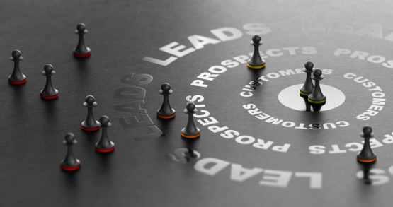Ilustração com conceito de gestão do lead