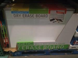 White Board in Store