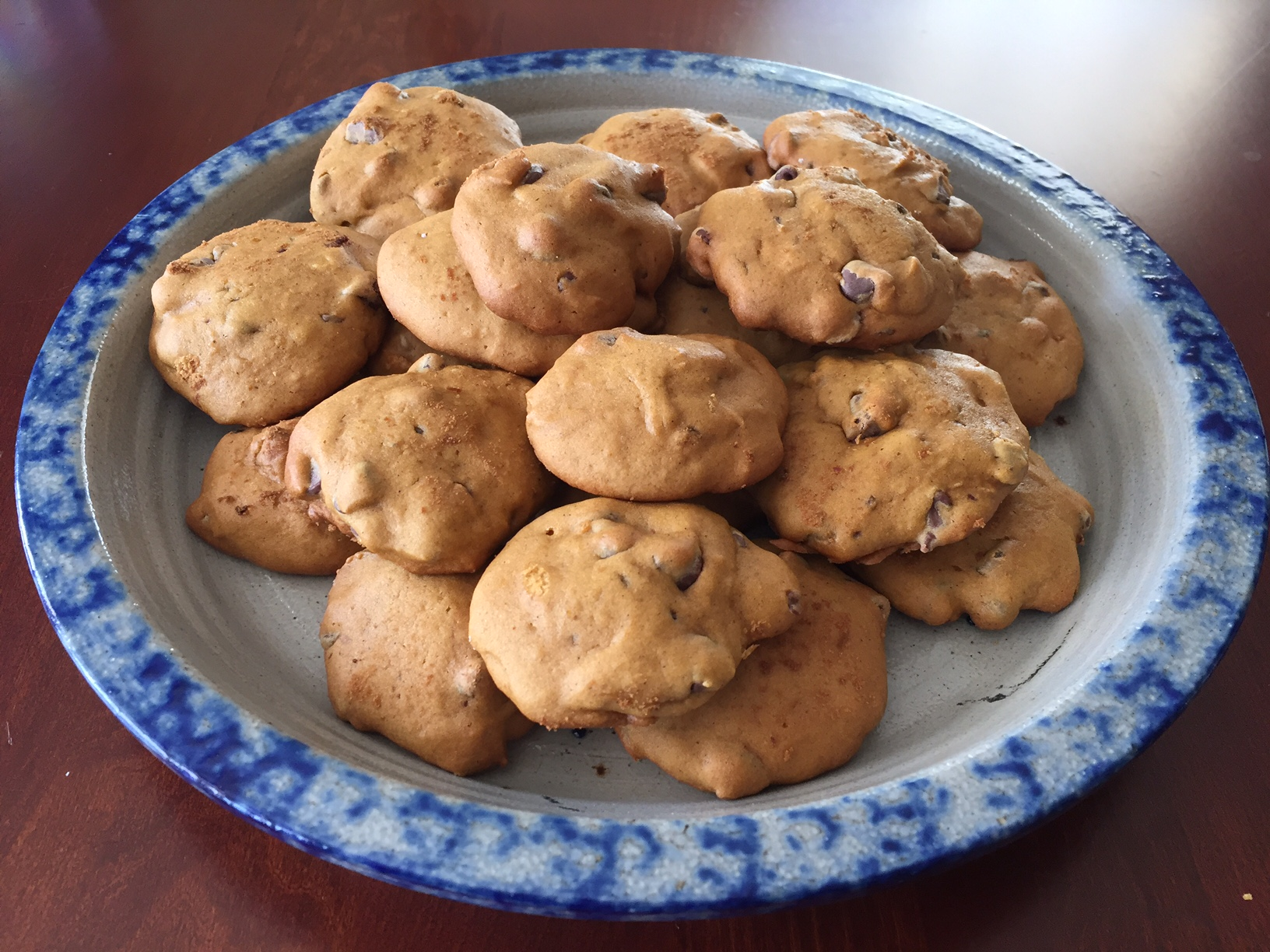 halloween party treat: pumpkin chocolate chip cookies – bringing up