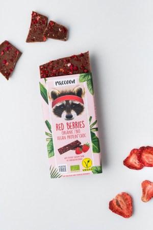 Proteinschokolade Red Berries Racoon Produktbild 2