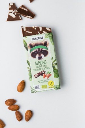 Proteinschokolade Almond Racoon Produktbild2