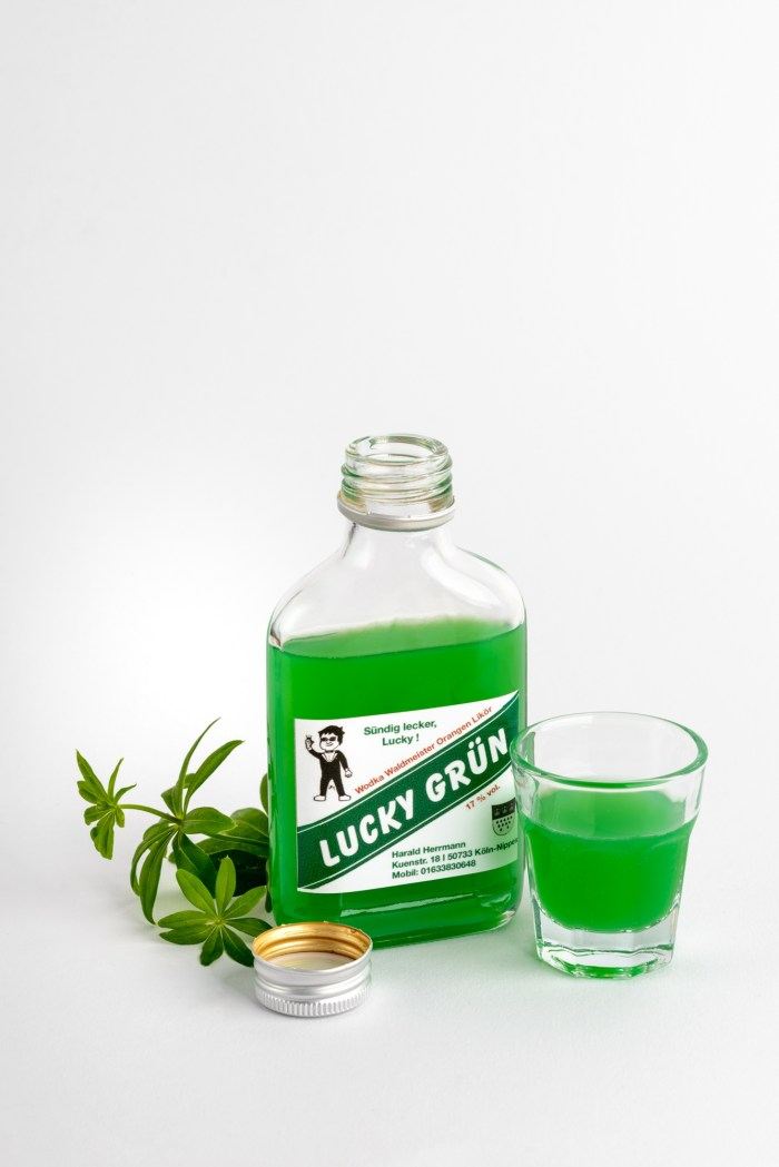 Wodka Waldmeisterlikör Lucky Grün 0,2 Produktbild 2