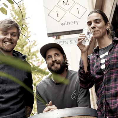 IMI Winery Kai, Jonathan und Svenja von Imi Winery Maker