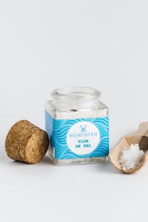 Meersalz - Flor de Sal - im Gewürzglas aus Algarve, Portugal
