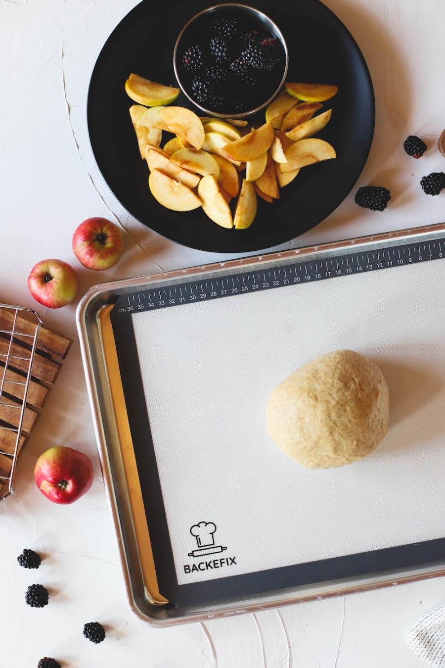 Backefix Backmatte Teig Äpfel