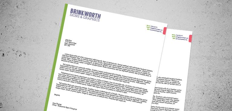 Custom Printed Business Letterhead