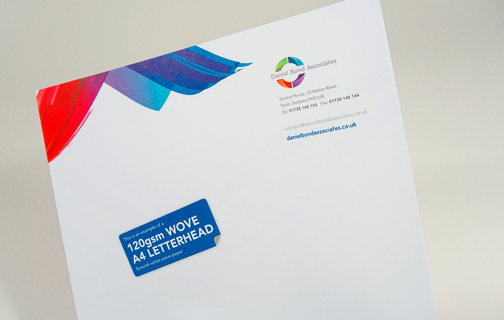Woven A4 Business Letterhead Printing