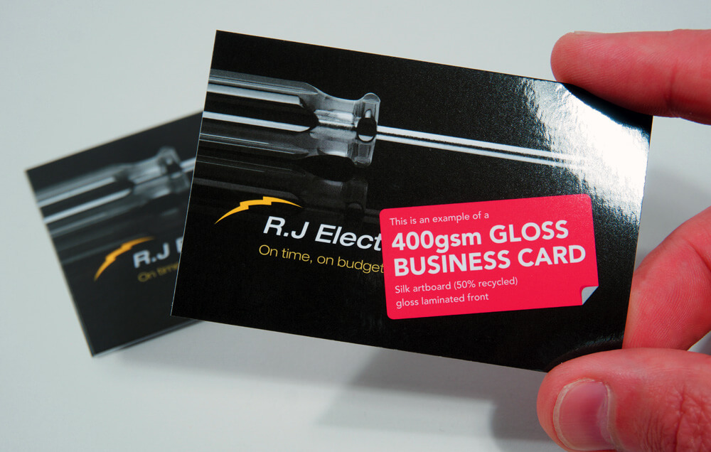 Gloss Coated Business Cards