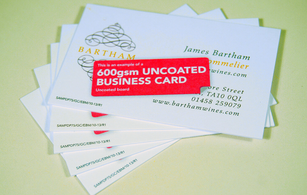Heavy Weight Super Thick Uncoated Business Cards