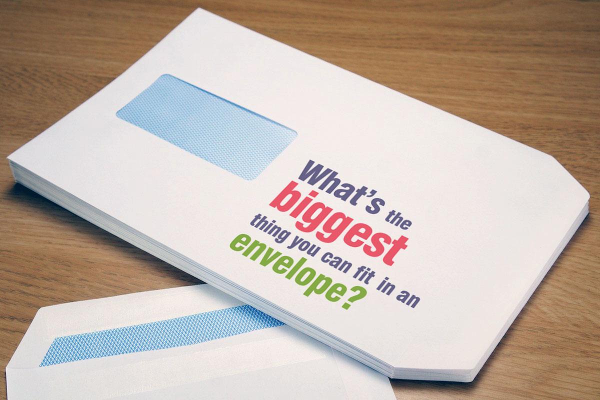 Custom Printed Personalised Envelope with Address Window